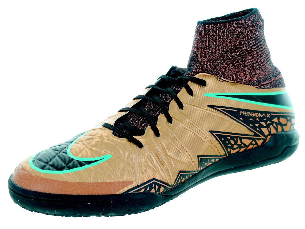 Nike Mens Hypervenomx Proximo Ic Mtlc Rd Brnz/Blk/Blk/White/Grn Glwindoor Soccer Shoe
