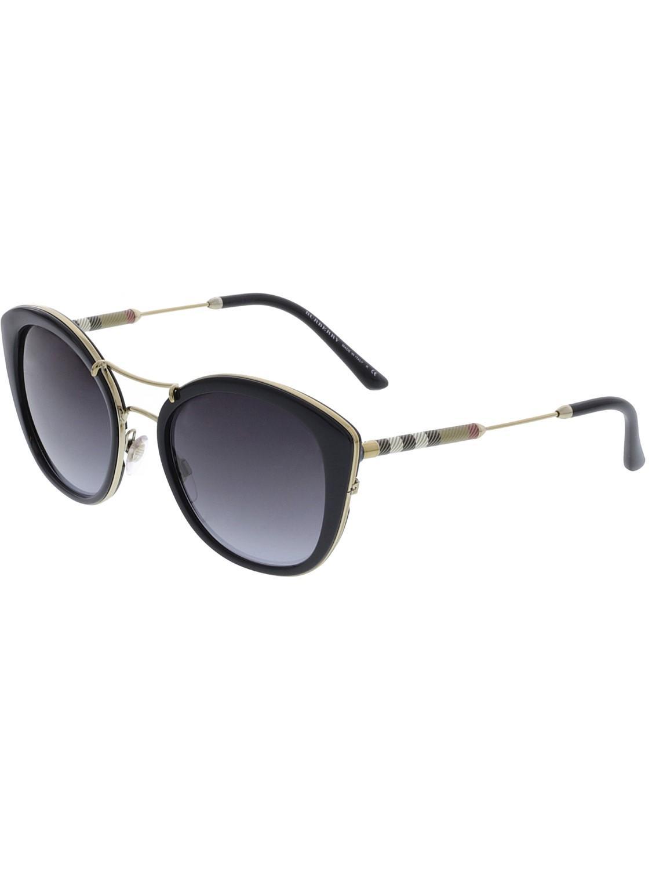 c114805786 Lyst - Burberry Gradient Be4251q-30018g-53 Cat Eye Sunglasses in Black