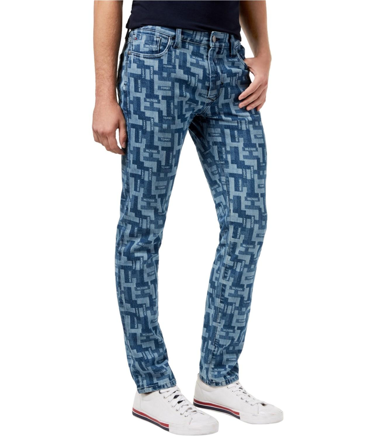 62a166afd Lyst - Tommy Hilfiger Puzzle Slim Fit Jeans in Blue for Men - Save 44%