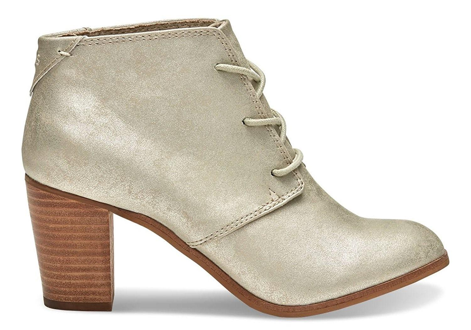 69ad5884da3 Lyst - TOMS Lunata Lace-up Booties (10.0 B(m) Us Womens in Metallic