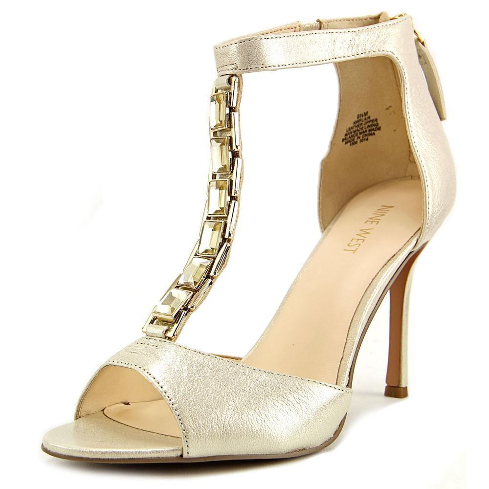 21471f18c246d5 Lyst - Nine West Flair Women Us 8.5 Gold Heels in Metallic