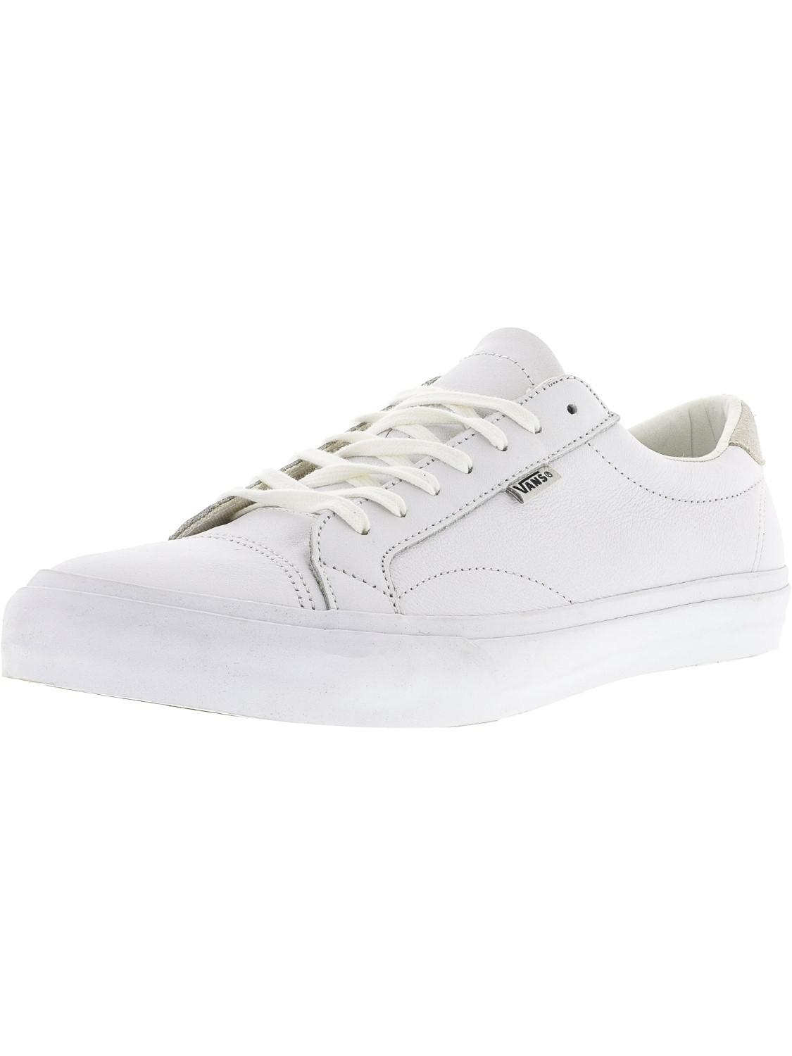 61f79d14a97 Vans. Women s White Court Dx Leather Ankle-high Canvas Skateboarding Shoe  ...