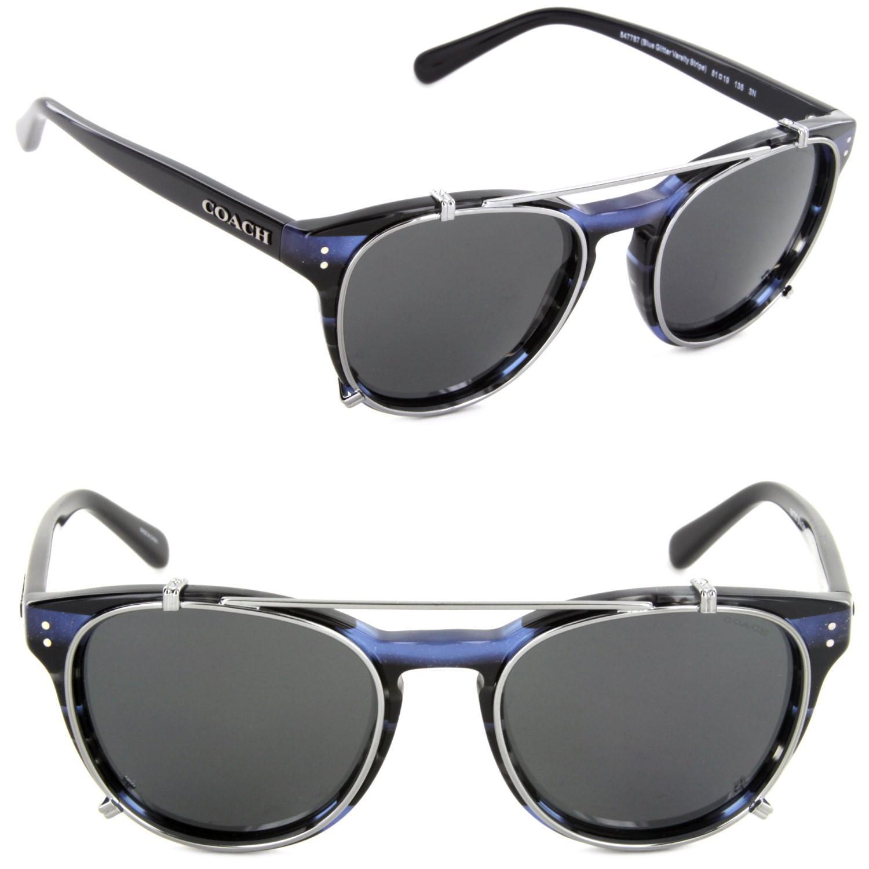 dfd88b426d COACH Hc8216-547787-51 Phantos Sunglasses Blue Glitter Varsity ...
