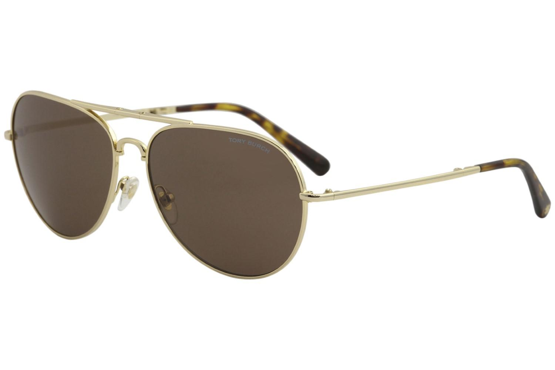 daf92e43e3ee Lyst - Tory Burch Ty6054 Ty/6054 3224/73 Folding Pilot Sunglasses ...