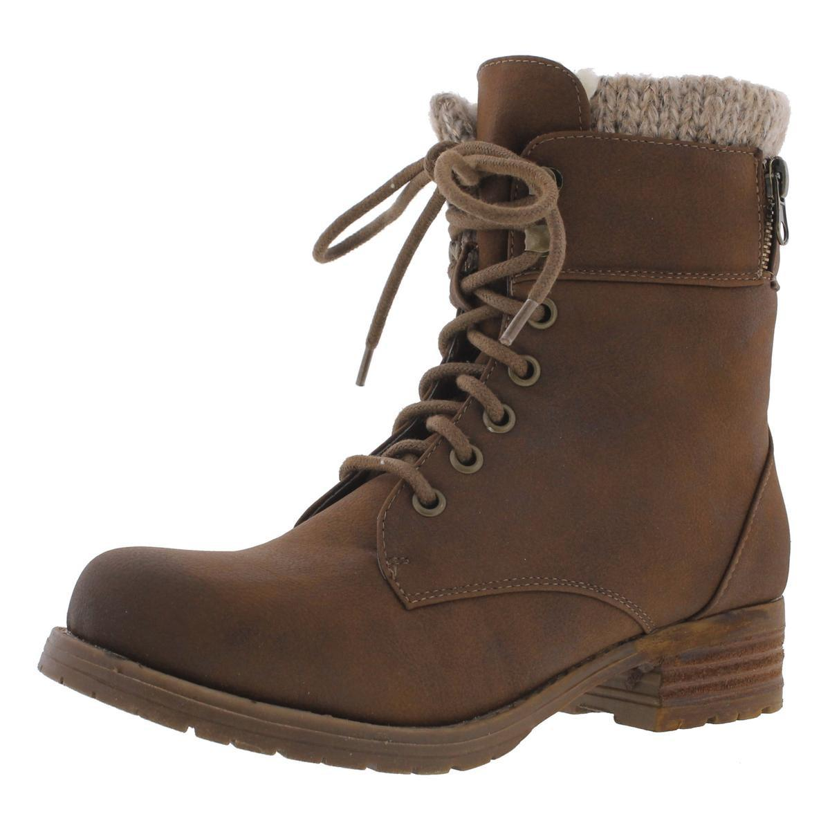 9bb086299e4 Lyst - Steve Madden Milina Faux Fur Lined Combat Boots in Brown