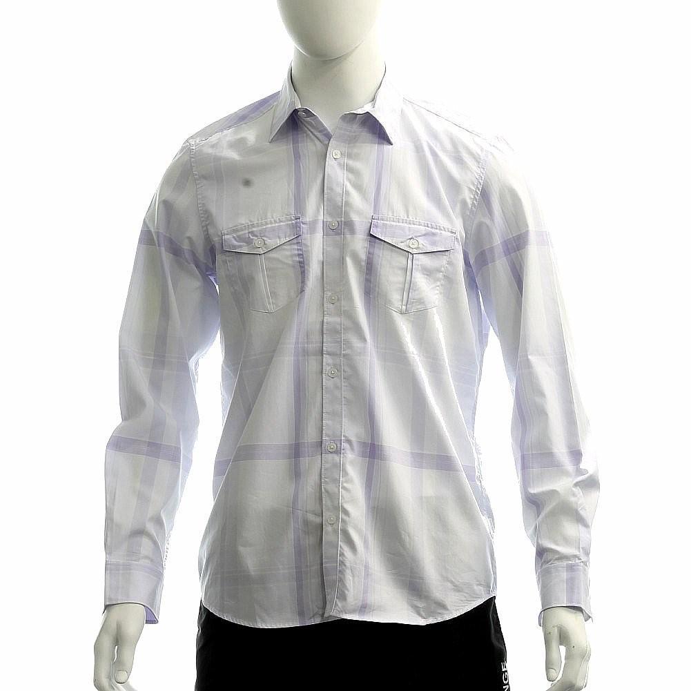 Lyst Calvin Klein Classic Fit Cotton Dressy 40gw184 Long Sleeve