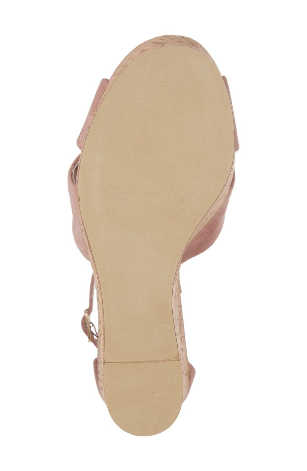 cc703e859c0 Steve Madden - Pink Striking Leather Open Toe Special Occasion Platform  Sandals - Lyst. View fullscreen