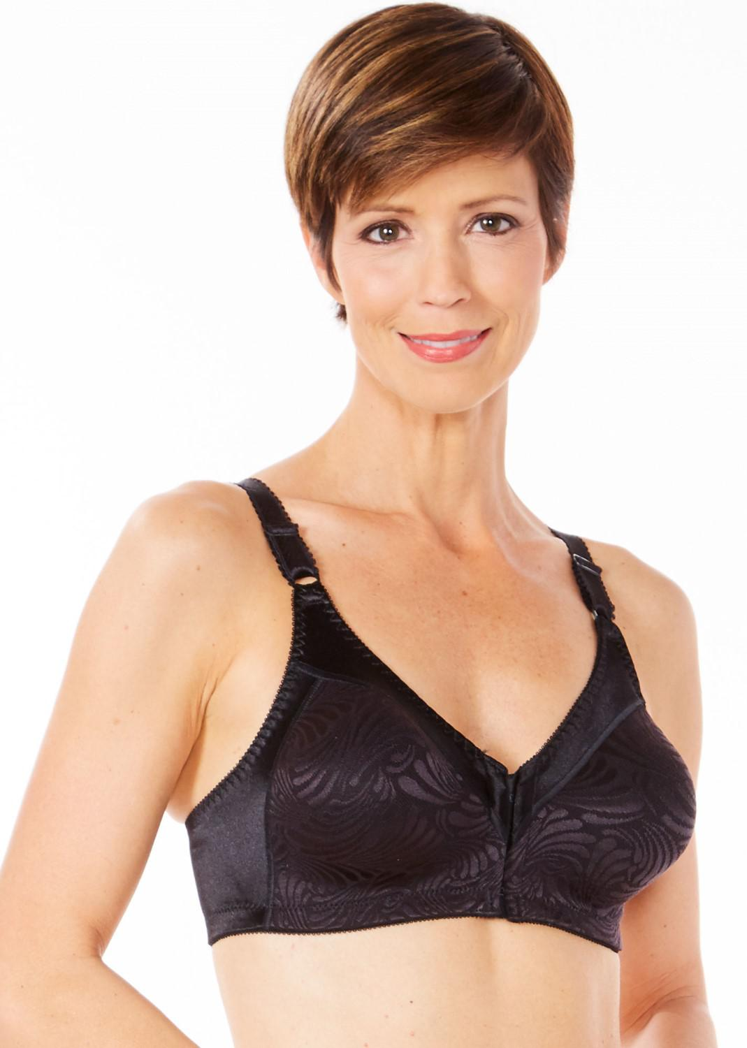 aca2a292d8a Lyst - Bali Df1003 Double Support Front Close Wirefree Bra in Black
