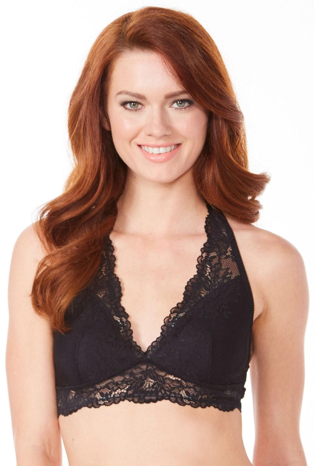 dd1175cf48500 Lyst - Maidenform Dm1126 Lace Racerback Bralette in Black - Save 14%