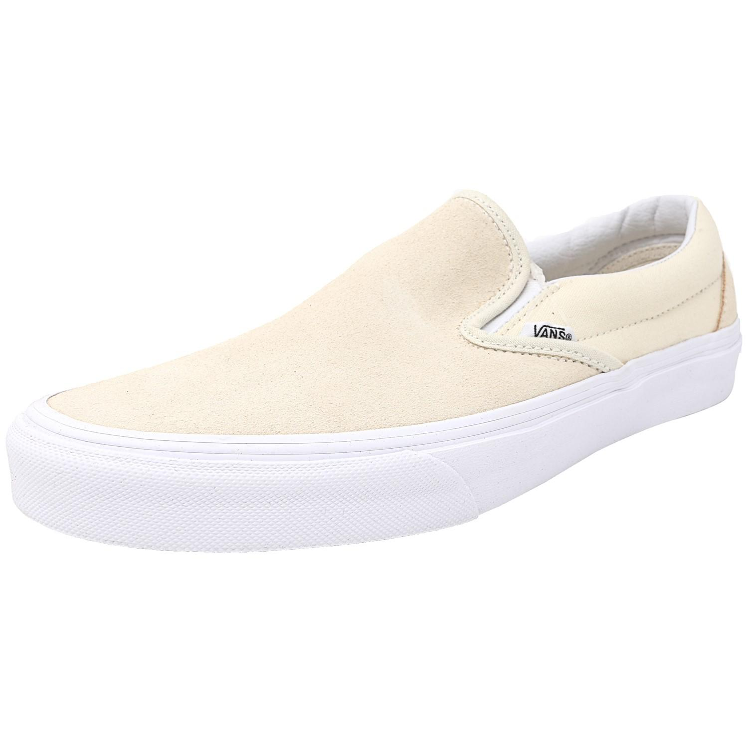 c5e2e3fc832 Lyst - Vans Classic Slip-on Suede And Canvas Afterglow   True White ...