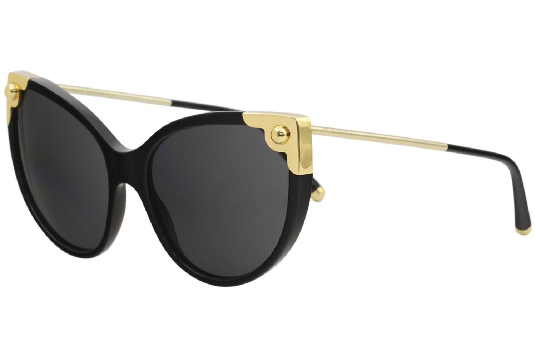 Lyst - Dolce   Gabbana D g Dg4337 Dg 4337 501 87 Black Cat Eye ... 32c9eaed8f10
