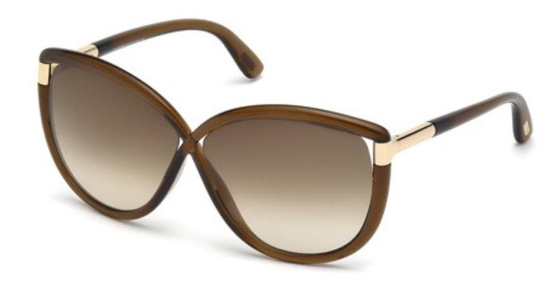 3392519fdc Lyst - Tom Ford Sunglasses Abbey Tf 327 Ft 48f Shiny Dark Brown ...