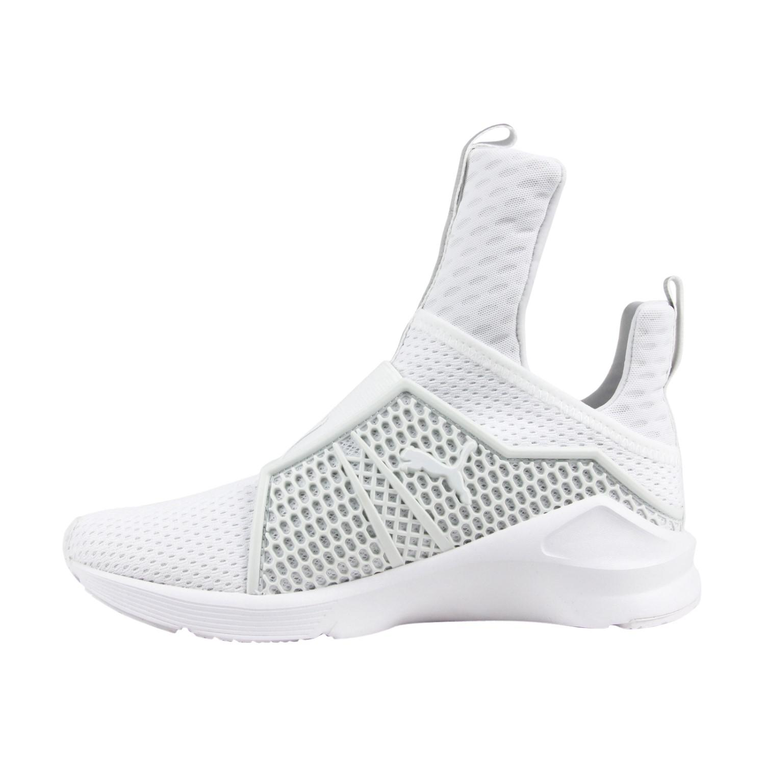 super popular 9ec00 6b526 Lyst - Puma Fenty Trainer White White Womens Athletic ...