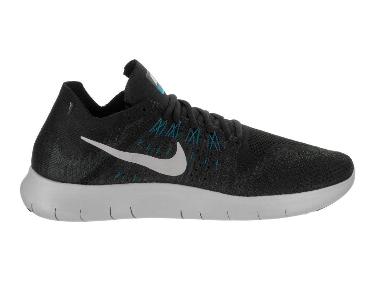 8b82850c353f8 Lyst - Nike Free Rn Flyknit 2017 Black off White anthracite Running ...
