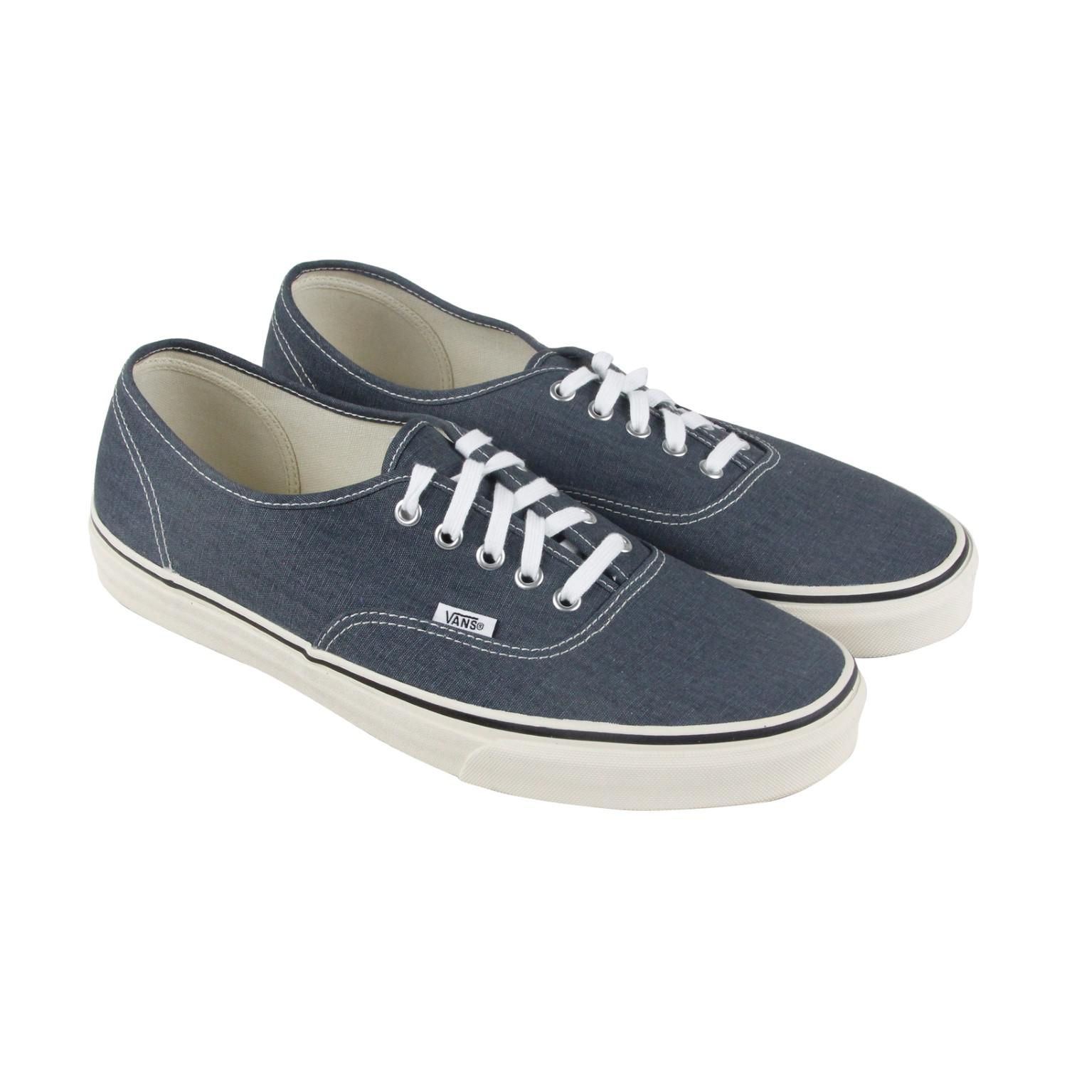 2bb05afa4a Lyst - Vans Authentic Vintage Navy Turtledove Lace Up Sneakers in ...