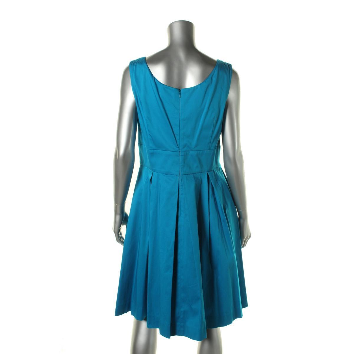 8bc7942c42dbb2 Lyst - Calvin Klein Scoop Neck A-line Sundress in Blue