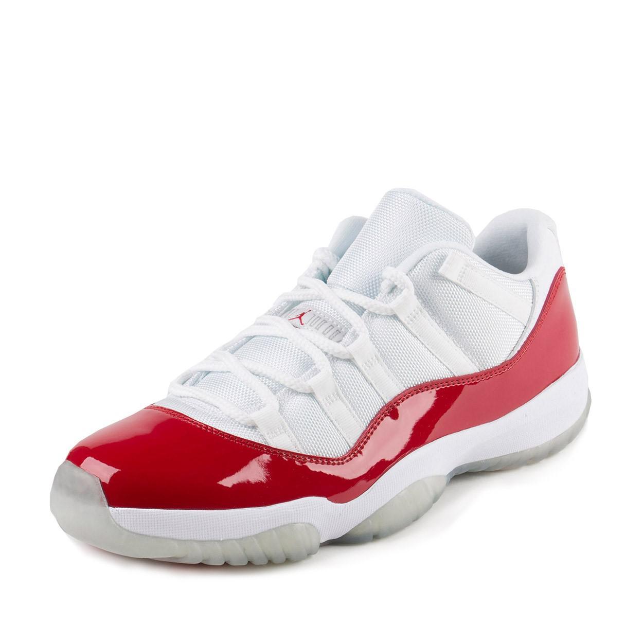 34a2d31f1a14 Lyst - Nike Mens Air Jordan 11 Retro Low White varsity Red-black ...