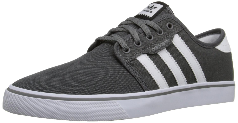 lyst adidas originali aq8528: seeley pattinare scarpa ash grigio / bianco