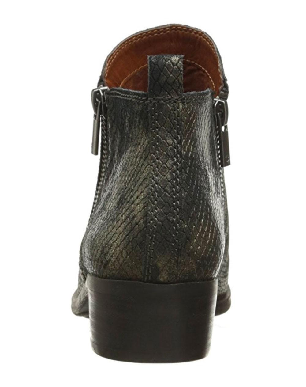 247d2371ba54 Lyst - Lucky Brand Basel Black   Gold Flat Booties in Black