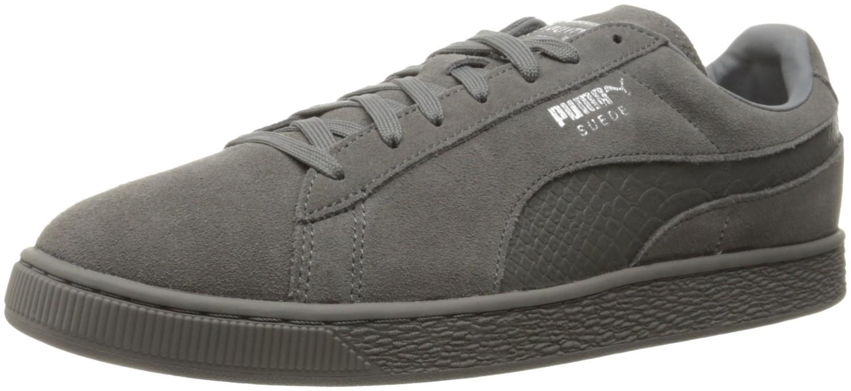cff6c26c9c9c04 ... for Whole Family PUMA. Mens Gray Suede Classic Mono Reptile Fashion  Sneaker ...