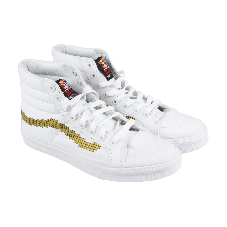 8d79fc05763 Lyst - Vans Sk8 Hi Slim Nintendo Console Gold Mens High Top Sneakers ...