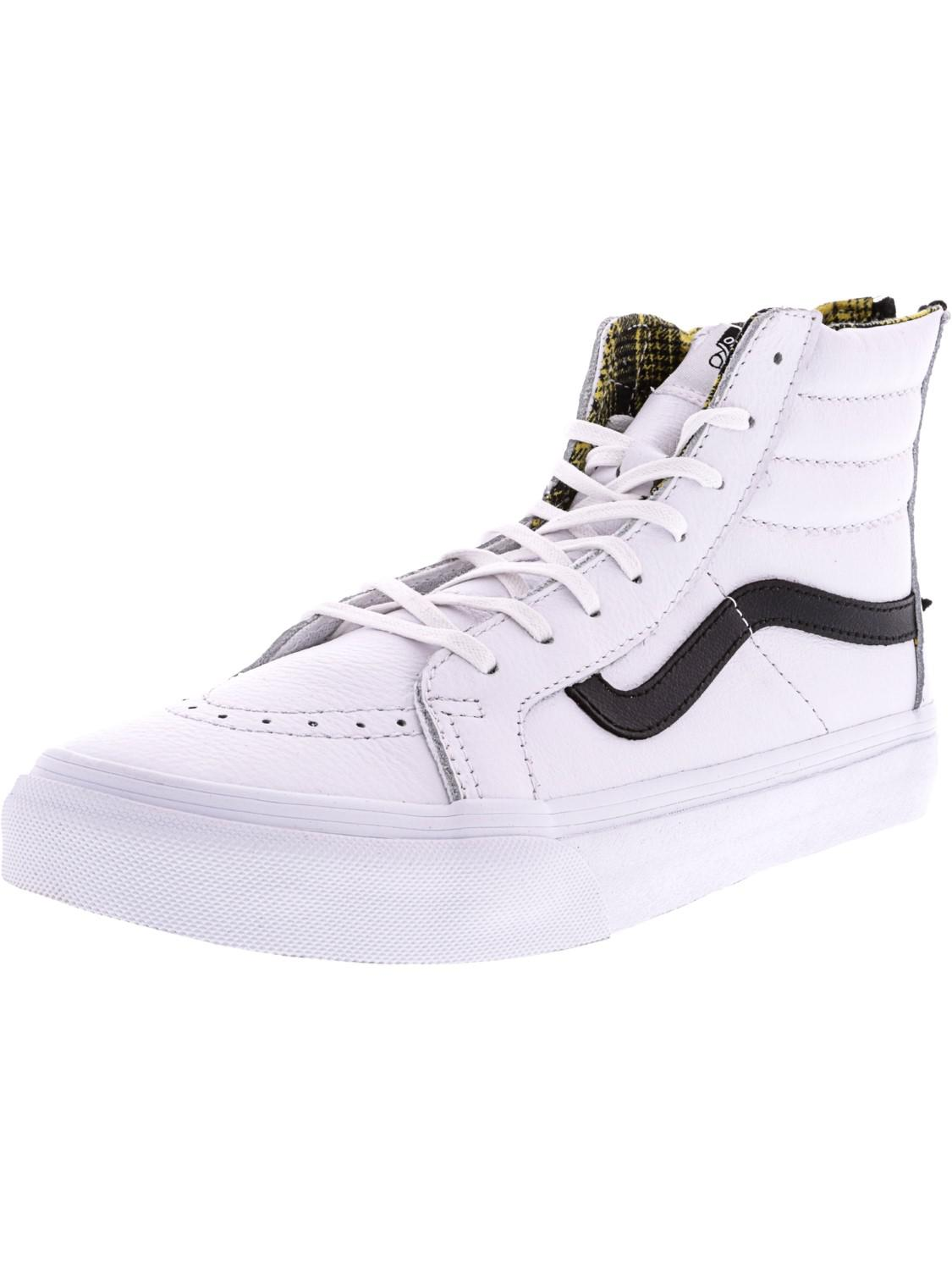 fbe796f8bed Lyst - Vans Sk8-hi Slim Zip Fashion Trainer Skateboarding Shoes in White
