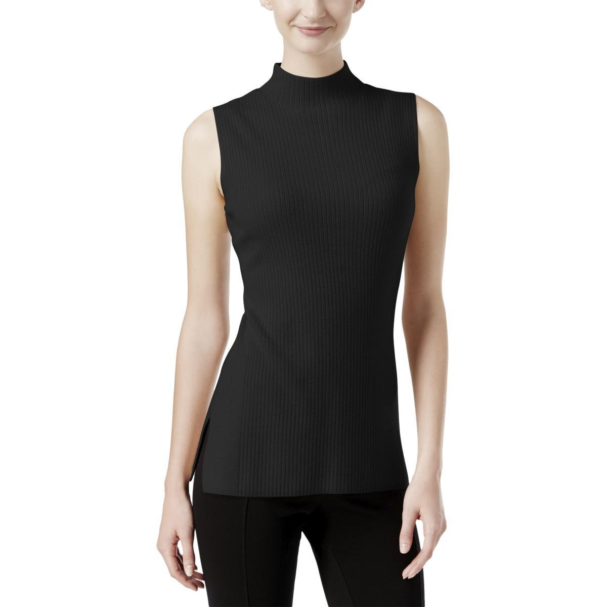 153c6be403ff5 Lyst - Calvin Klein 205W39Nyc Ribbed Knit Sleeveless Mock Turtleneck ...