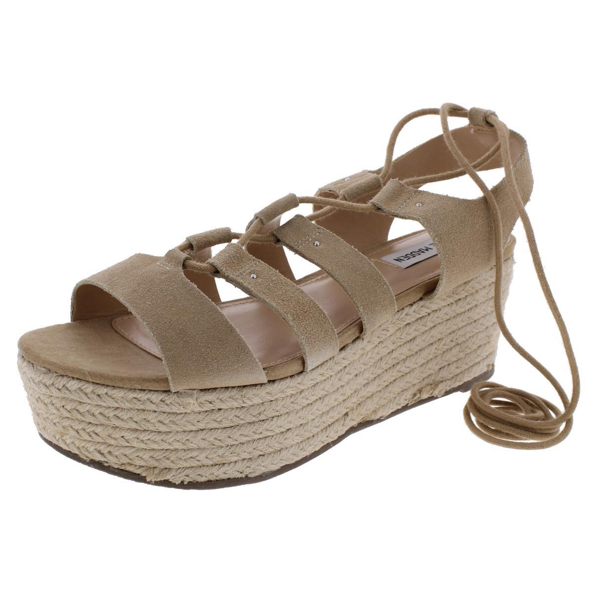 98b1562d72ff Lyst - Steve Madden Brayla Suede Ghillie Platform Sandals