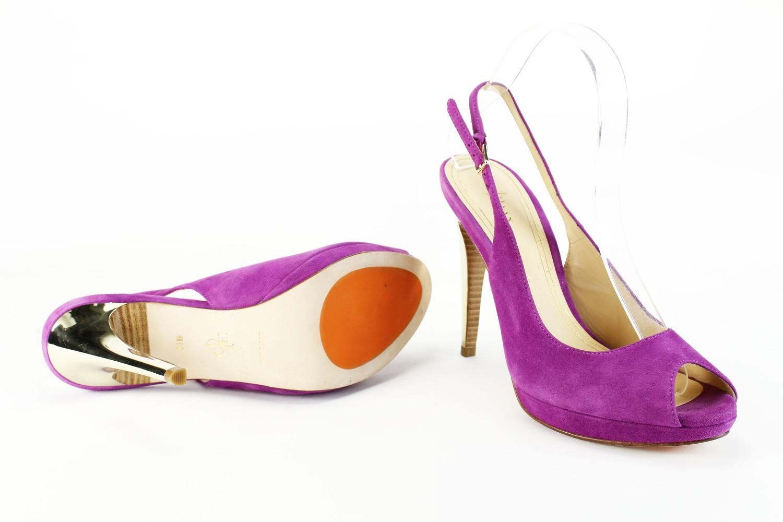 46a5a8e45f1 Lyst - Cole Haan Like New Womens Open Toe Heels Size 8.5 Us Medium ...