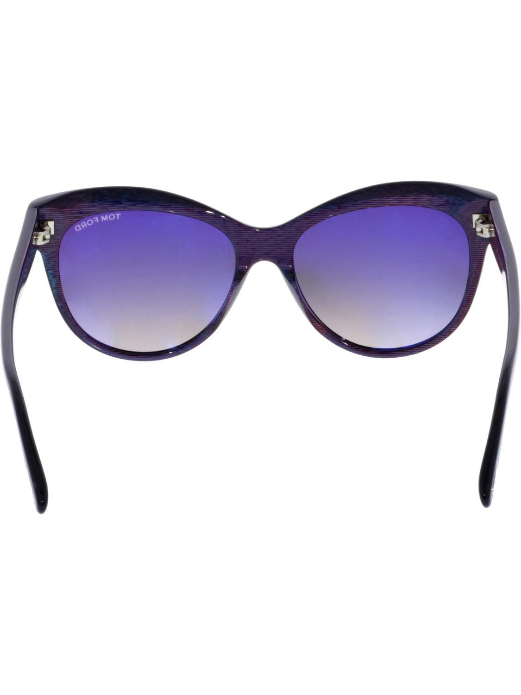 f89f766b43 Lyst - Tom Ford Lily Ft0430-05b-56 Cat Eye Sunglasses in Black