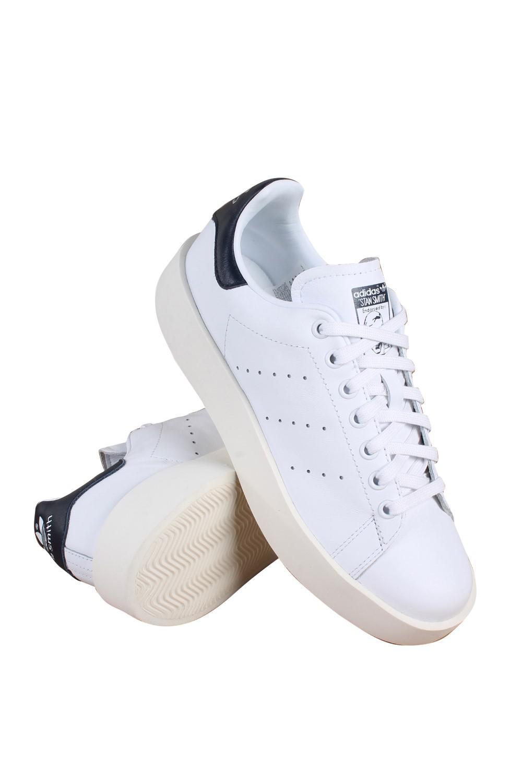 9853c609cbbc Lyst - adidas Originals Stan Smith Bold Originals Black white navy ...