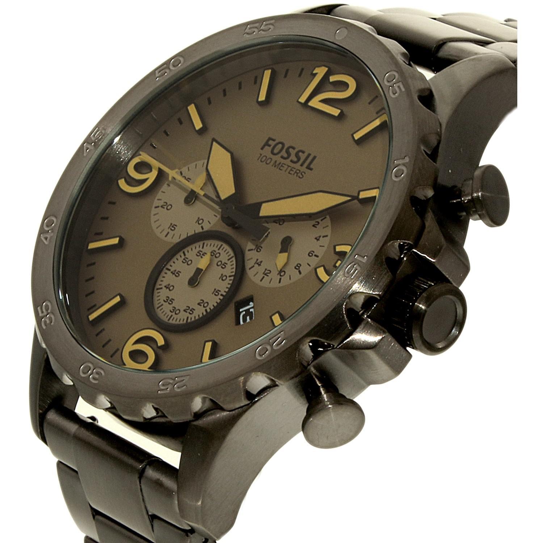 Jual Fossil Nate Jr1502 Black Jam Tangan Pria Termurah 2018 Original Watch Chronograph Dark Brown Stainless Steel Jr 1523 Spec Dan Gallery