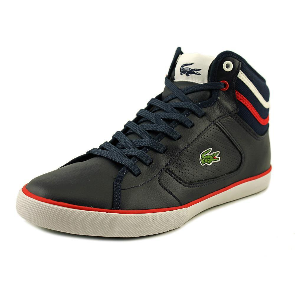 3e511e637 Lyst - Lacoste Camous Men Round Toe Leather Blue Fashion Sneakers in ...