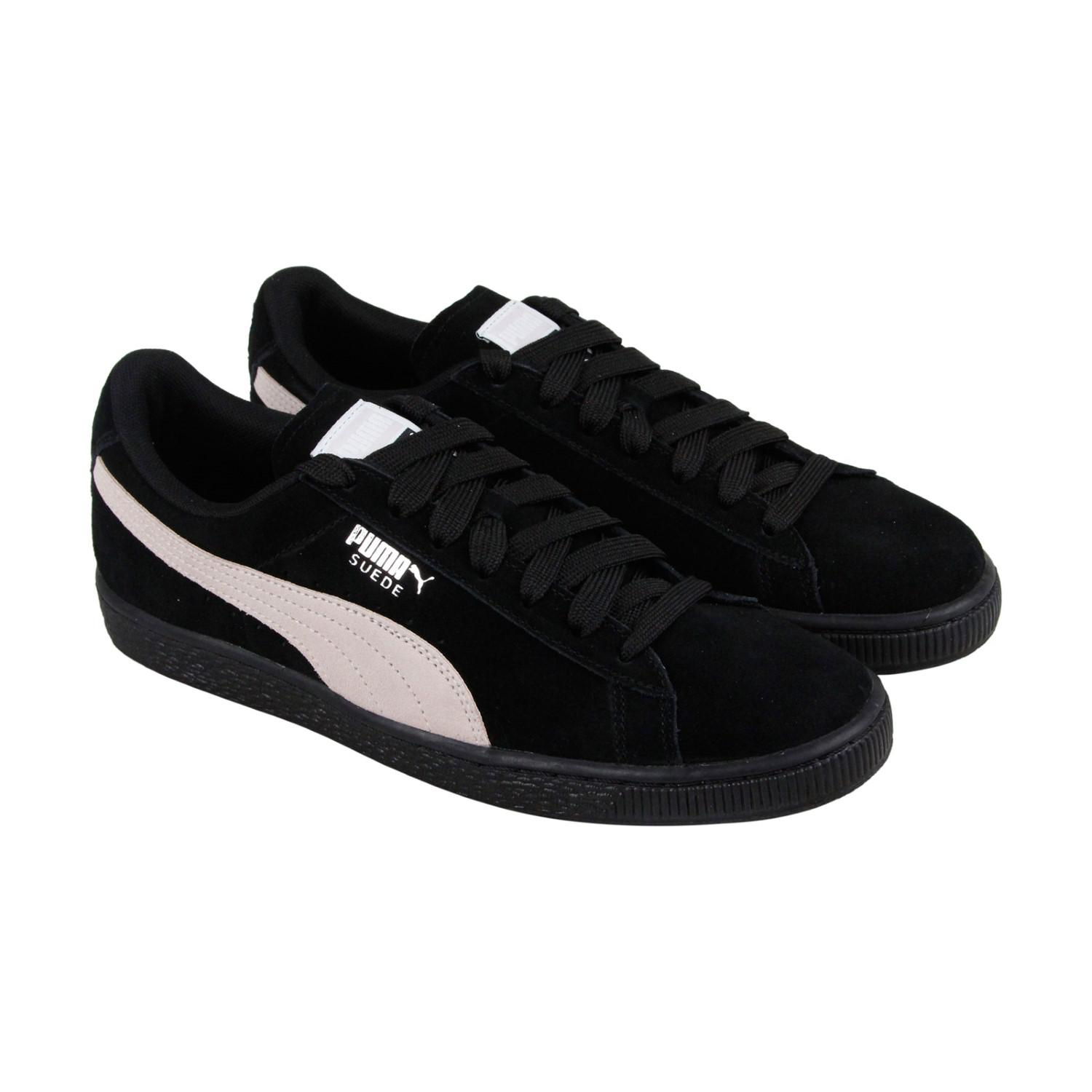 44bd23f83d16b1 Lyst - Puma Suede Classic Pearl Lace Up Sneakers in Black