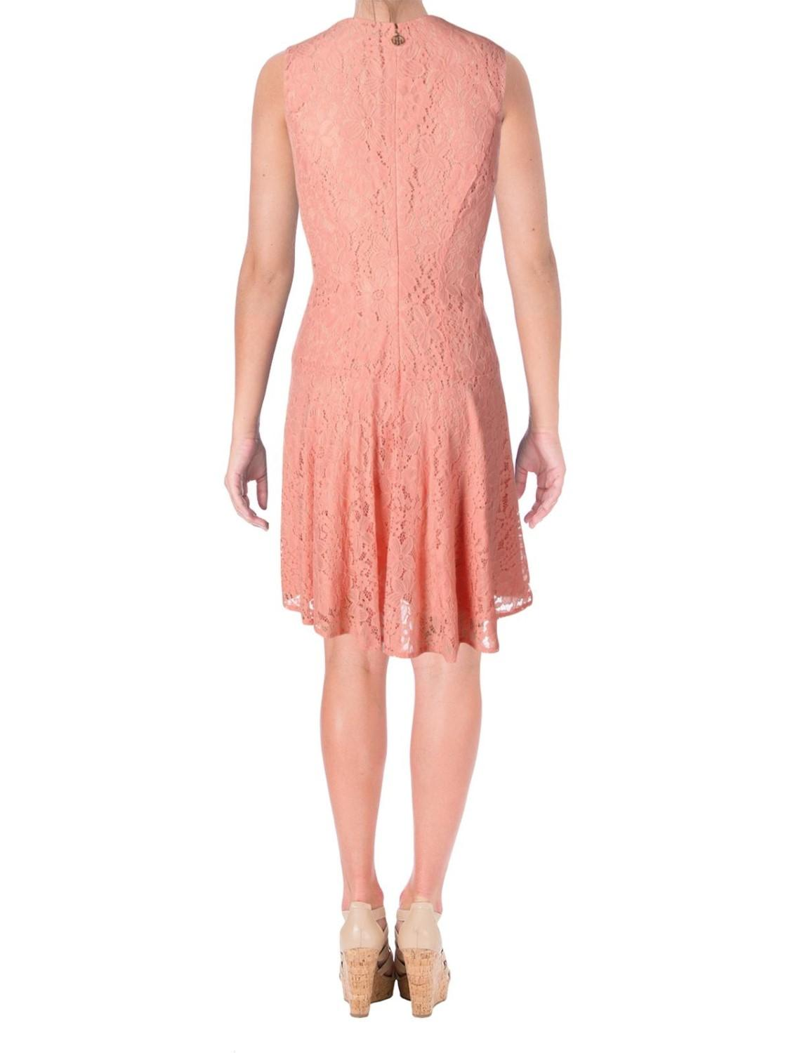 6a71d490b19 Lyst - Tommy Hilfiger Lace Fit & Flare Party Dress in Orange