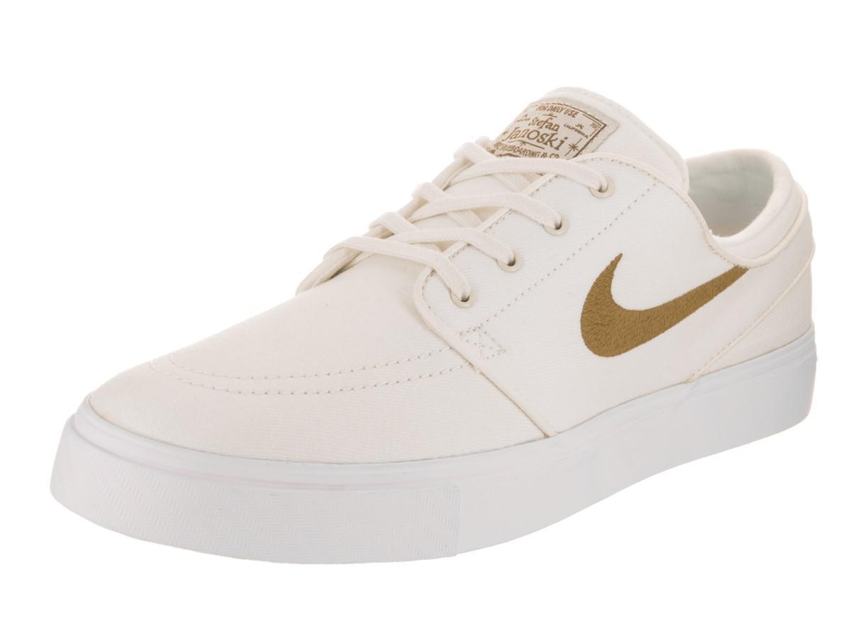 new product 7e1b9 c17b8 Nike Zoom Stefan Janoski Cnvs Sail golden Beige Skate Shoe 10.5 Men ...