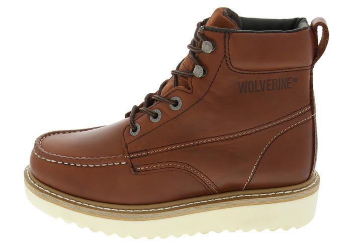 8e699ee3ea1 Lyst - Wolverine Moc Toe Wedge Heel 6 Inch Work Boot Russet 03173 ...