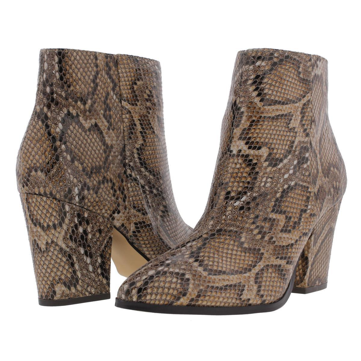 eb86e0b2f9f Lyst - Steve Madden Marissa Leather Snake Skin Ankle Boots in Brown