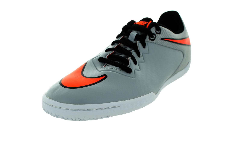 Nike Mens Hypervenomx Pro IC Wolf Grey/Ttl Orange/White/BlackIndoor Soccer Shoe