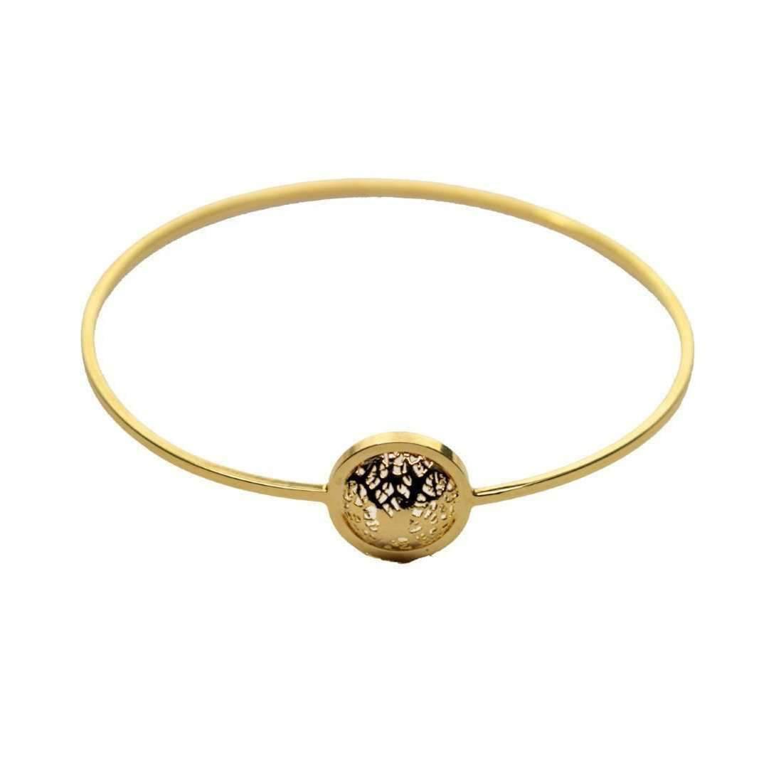 Amazona Secrets 18kt Gold Savannah Leaf Hoop Bracelet VPlNMMju
