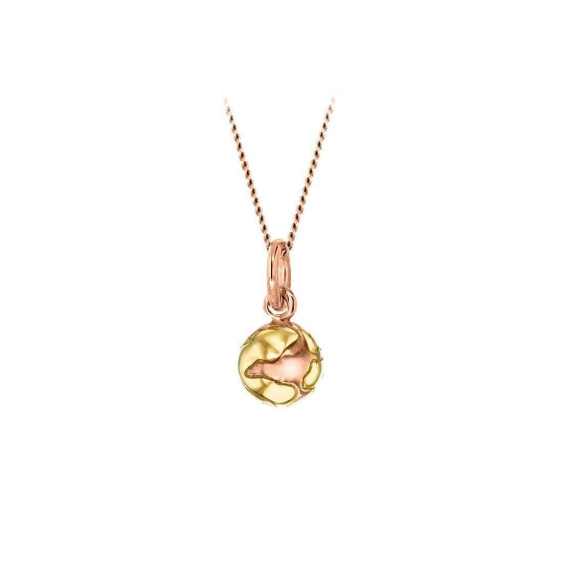 True Rocks Medium Yellow & Rose Gold Plated Silver Revolving Globe Pendant qwOR5Rt