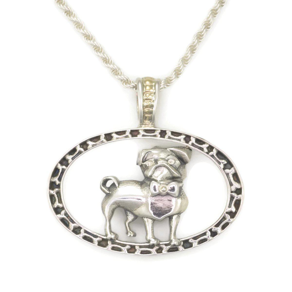 Donna Pizarro Designs 14kt Pave Diamond Dog Bone Necklace Be5QM