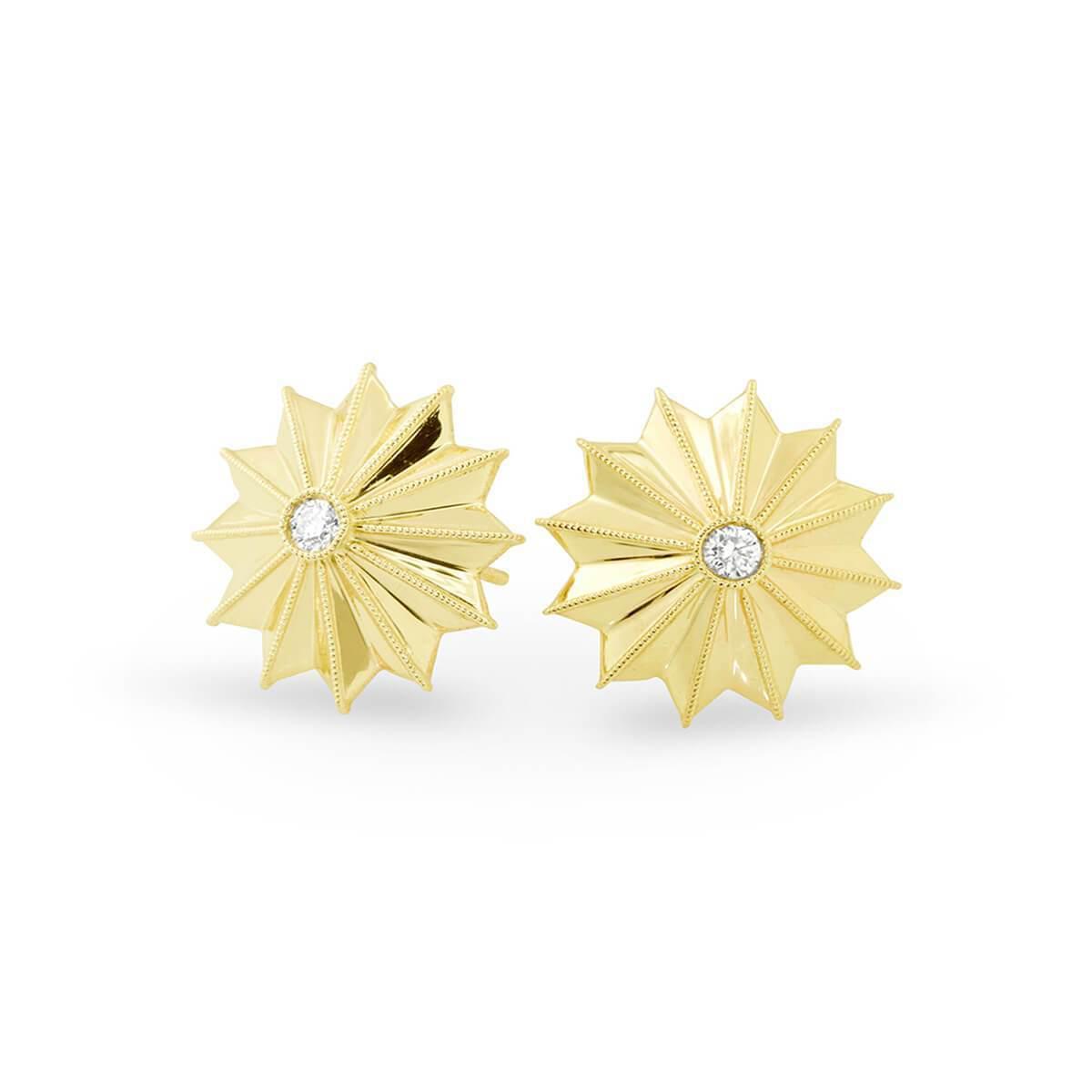 12ed1257c Katherine & Josephine Gold & Diamond Ray Star Stud Earrings | in ...