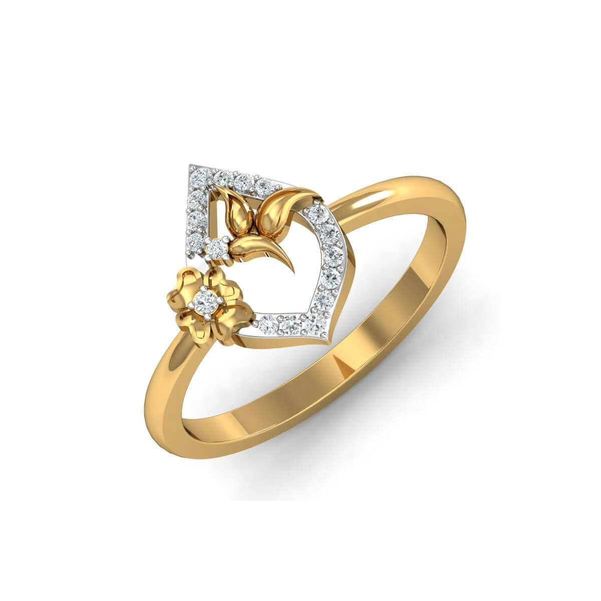 Diamoire Jewels 18kt Yellow Gold Pave 0.09ct Diamond Infinity Ring With Sapphire - UK G 1/4 - US 3 1/2 - EU 45 3/4 cQ6J2ggE
