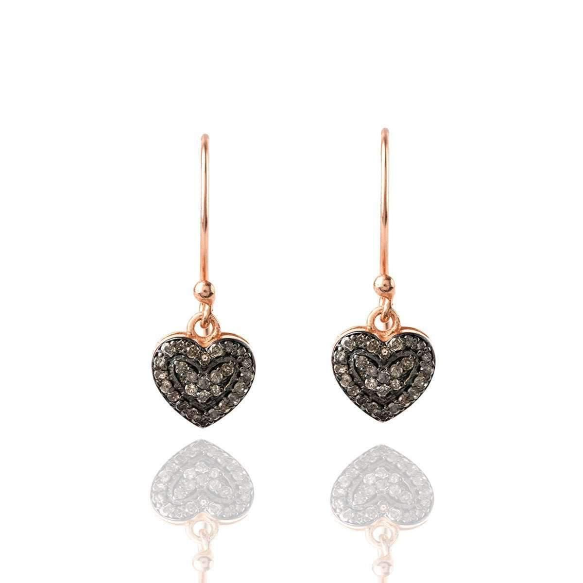 Latelita London Diamond Petite Heart Drop Earring N0efh0YYZ