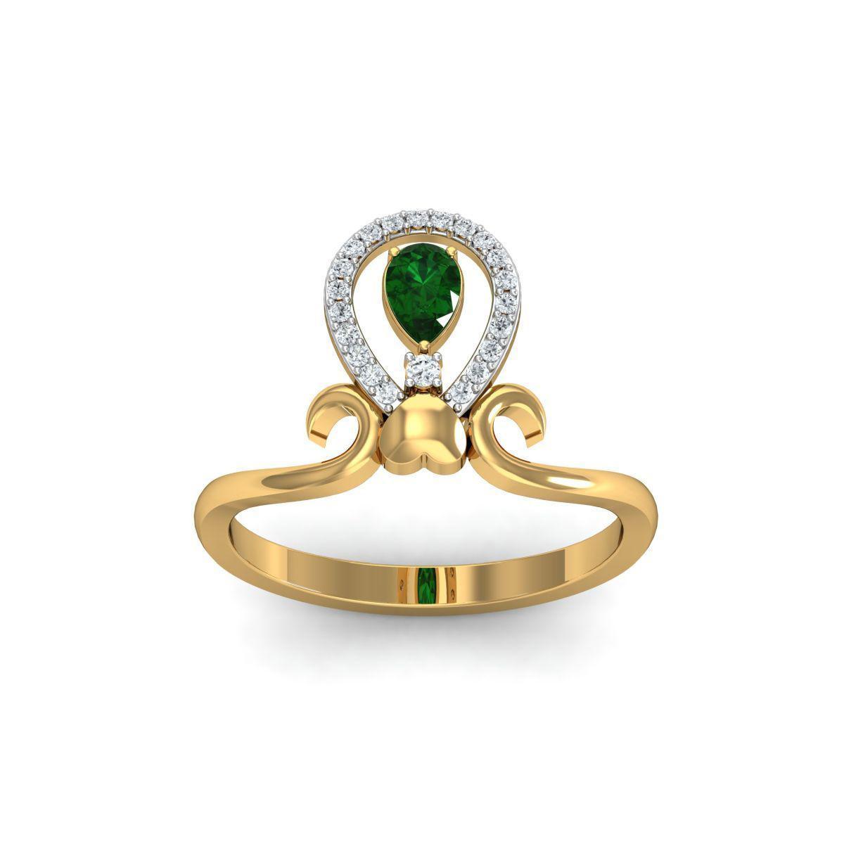 Diamoire Jewels 18kt Yellow Gold Pave 0.14ct Diamond Infinity Ring I - UK G 1/4 - US 3 1/2 - EU 45 3/4 GYN8Z