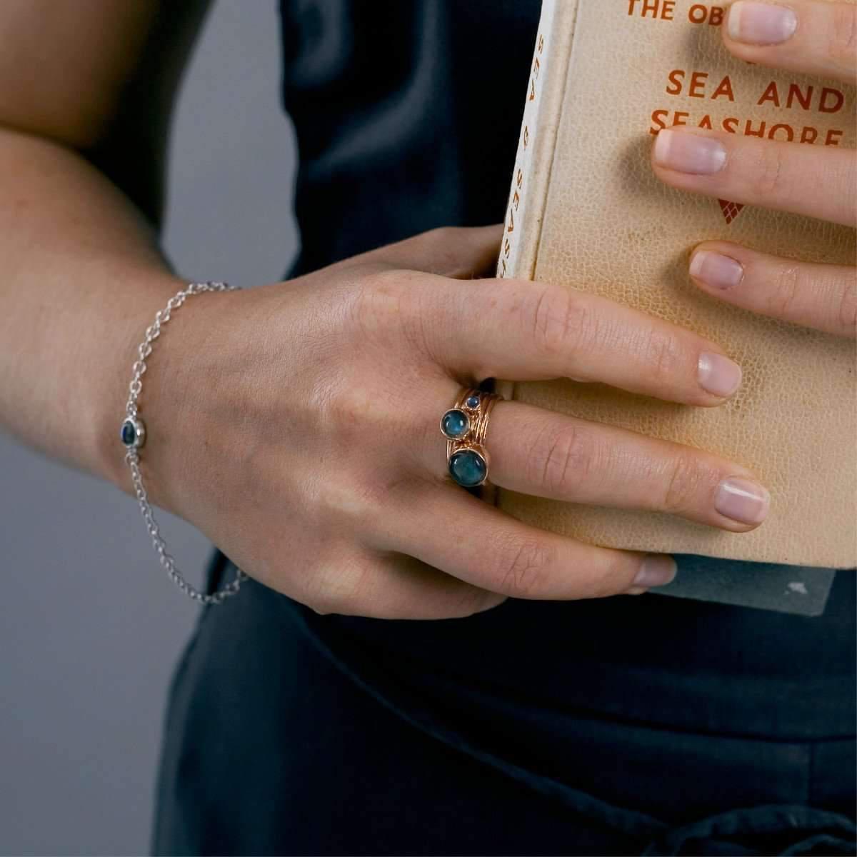 Alison Moore Designs Star And Labradorite Stacking Rings - UK U - US 10 1/4 - EU 62 3/4 Uqz4jajB