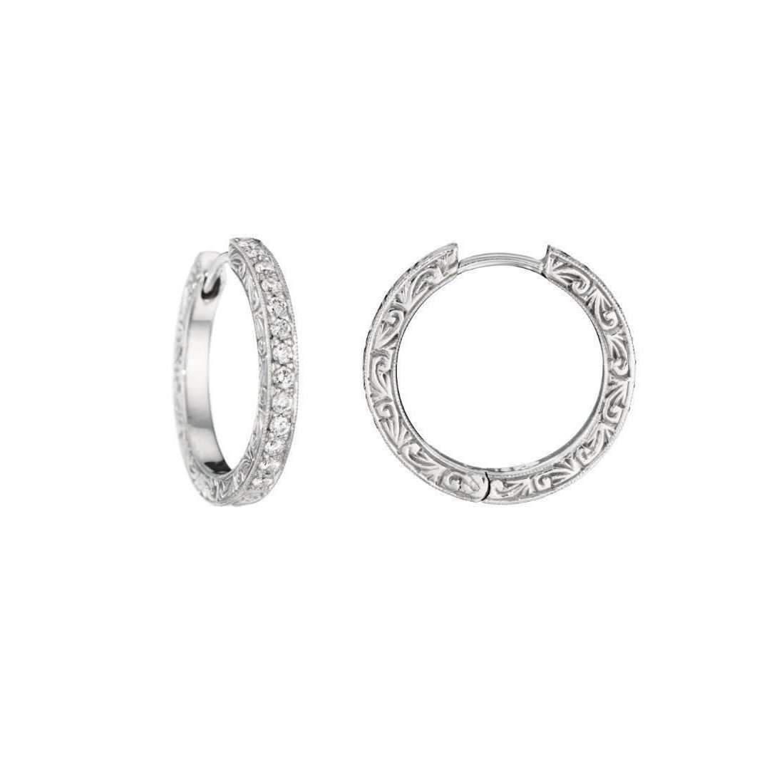 Penny Preville Oval Diamond White Gold Hoop Earrings R7vcNRb8s