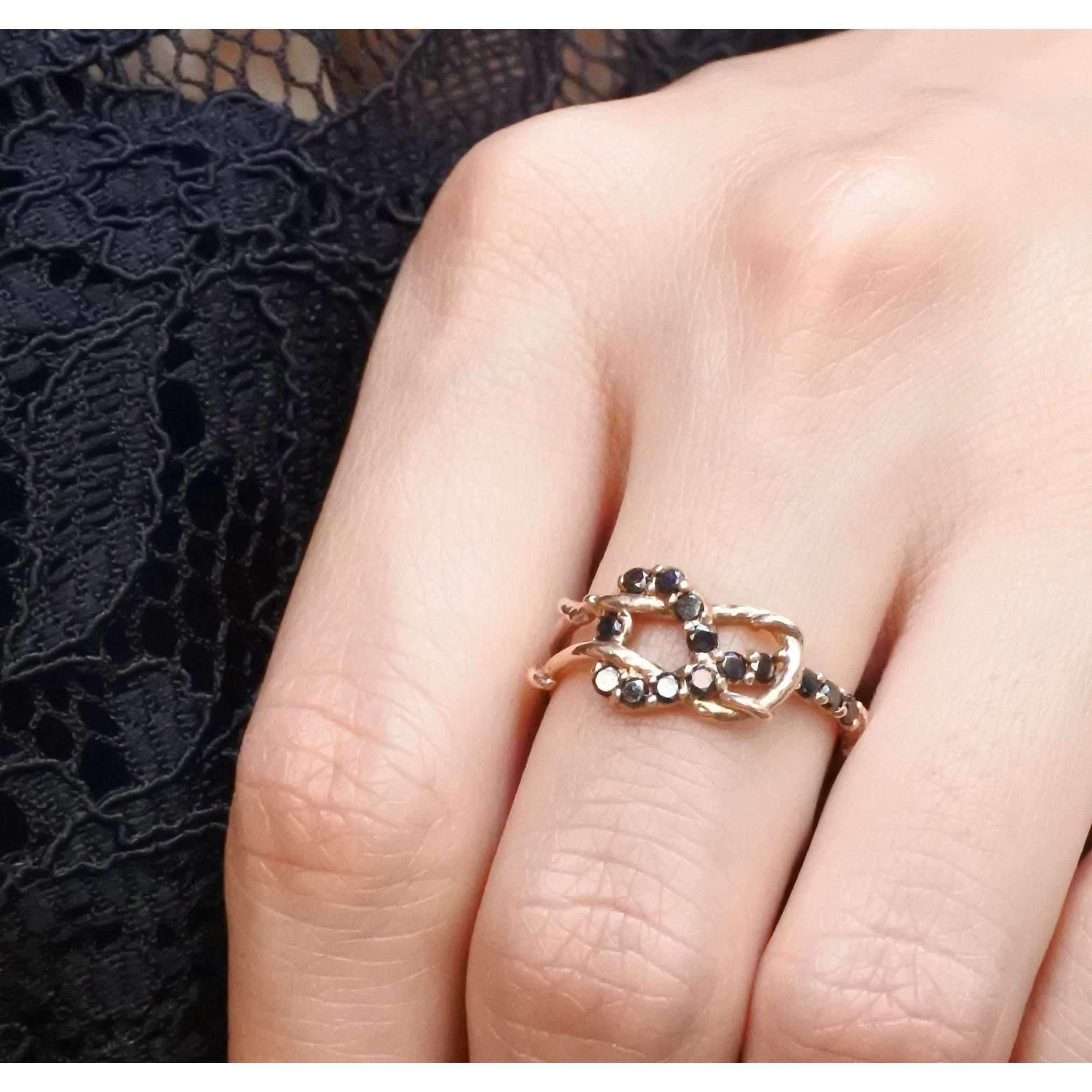 Lyst - Karen Karch Rose Gold Plated Love Knot