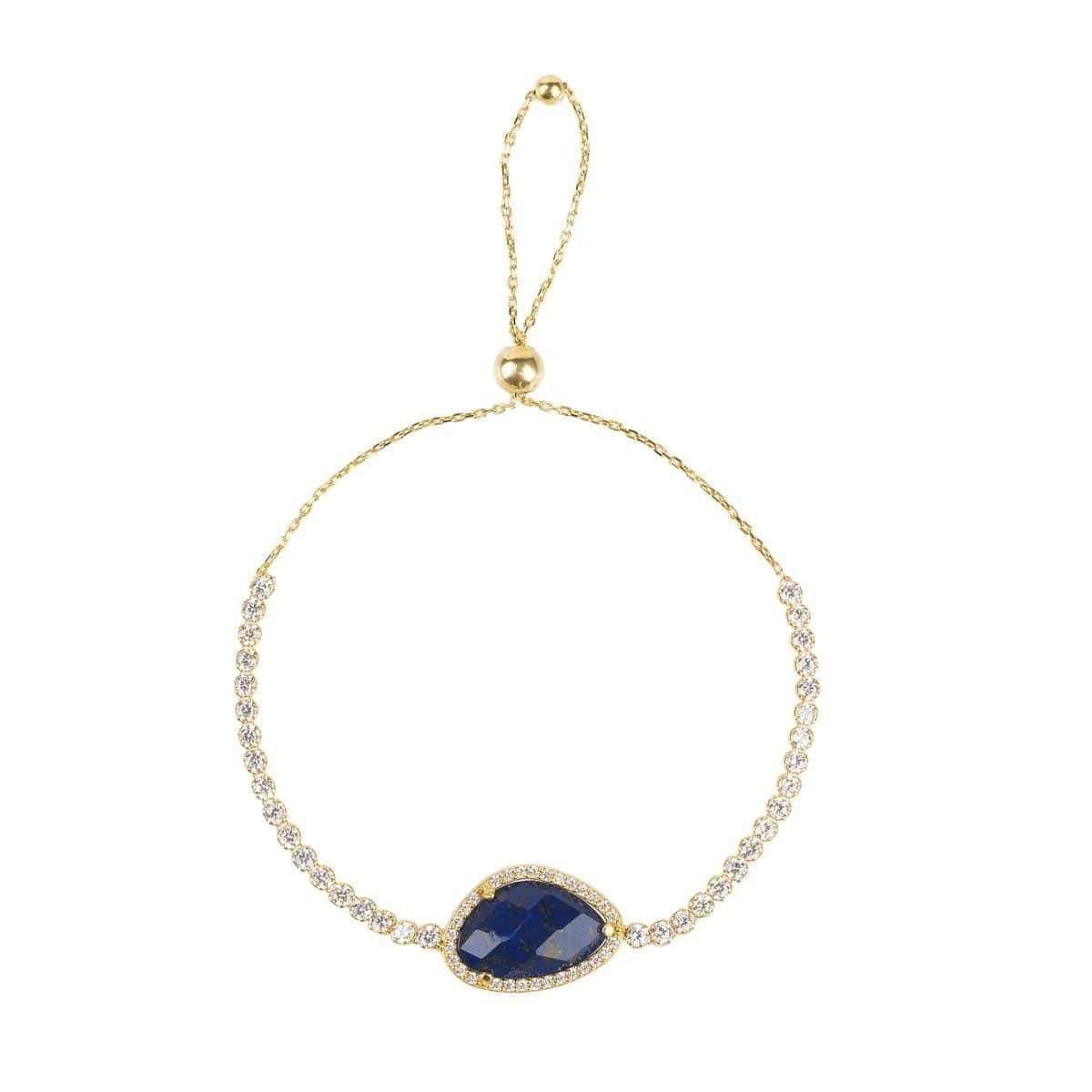 Latelita London Sofia Blue Lapis Lazuli Gemstone Bracelet Gold TpavcMchk3